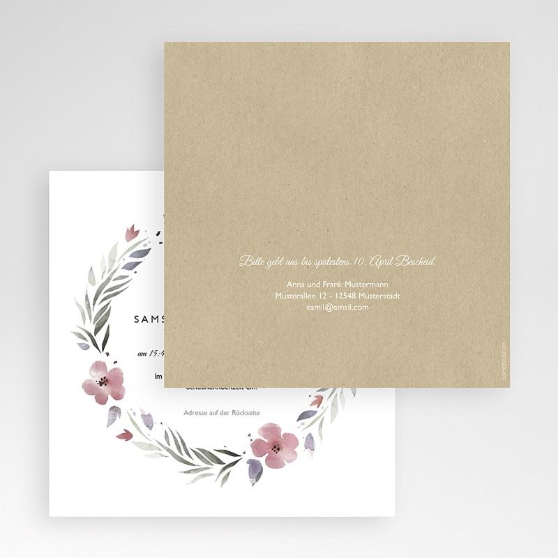 Hochzeitskarten Quadratisch Herrlich romantisch