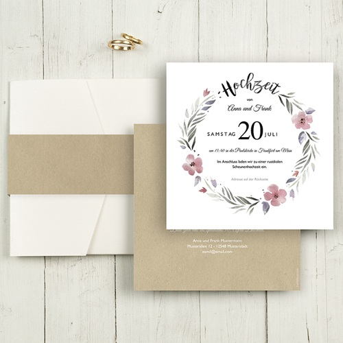 Hochzeitskarten Quadratisch - Herrlich romantisch 52860 test