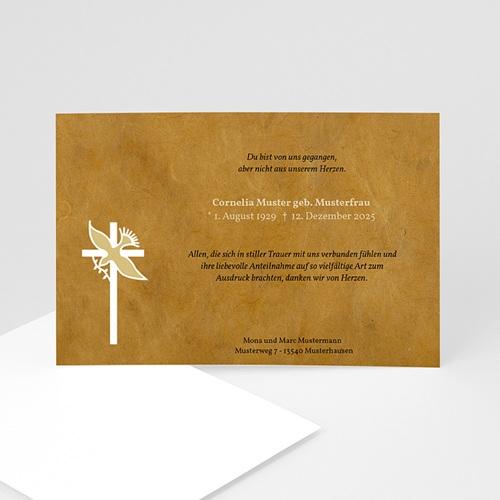 Trauer Danksagung christlich - Symbol der Hoffnung 5287