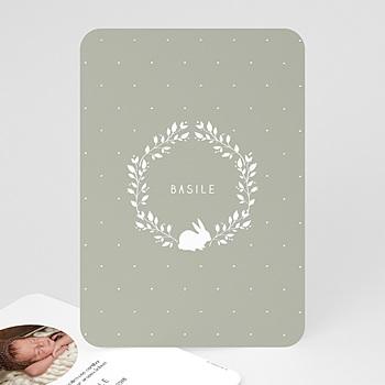 Babykarten für Jungen - Vintage Hase - 0