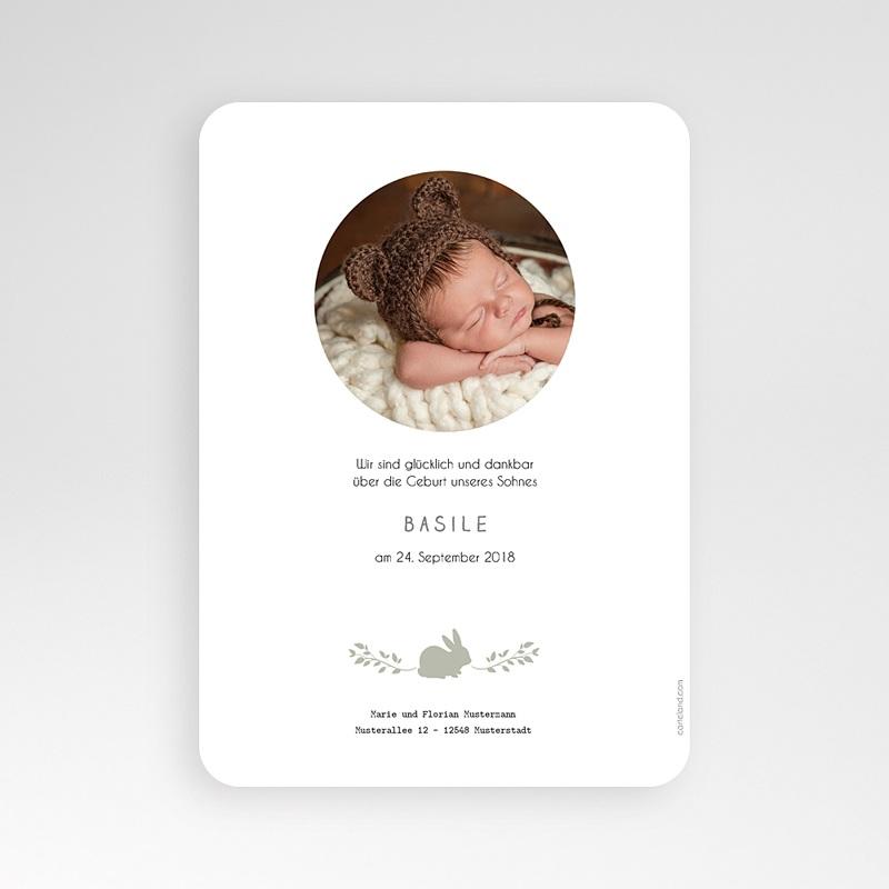 Babykarten f r jungen vintage hase for Vintage geburtskarten