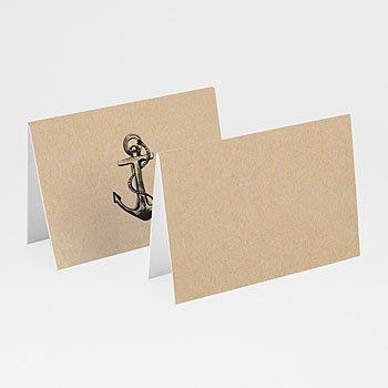 Tischkarten Hochzeit - Anker - 0