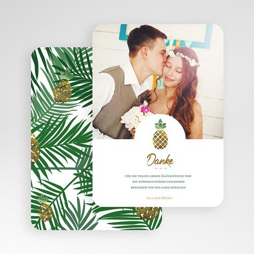 Alle Dankeskarten Hochzeit Ananas und Palmen gratuit