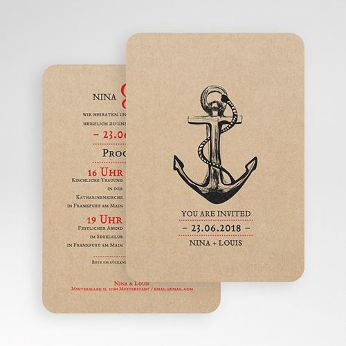 Elegant Einladungskarten Hochzeit   Anker 53006 Test ...