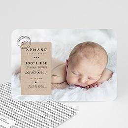 Geburtskarten für Junge - Handgemacht