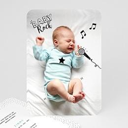 Karten Geburt Rockstar