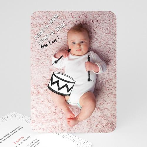 Originelle Geburtskarten  - Kleine Trommel 53092