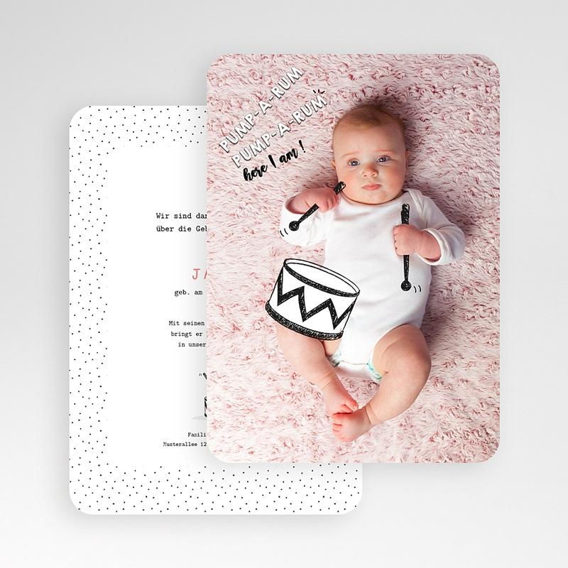 Originelle Geburtskarten Kleine Trommel gratuit