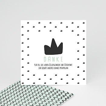 Dankeskarten Geburt Jungen - Kleiner König - 0