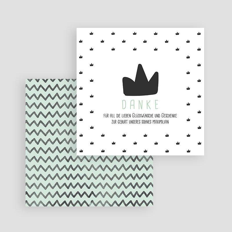 Dankeskarten Geburt Jungen Kleiner König gratuit