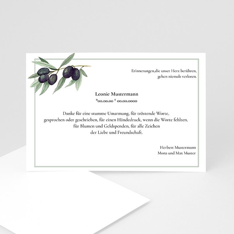 Weltlich Dankeskarten Trauer Olivenzweig