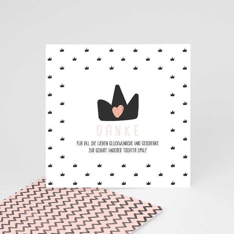 Dankeskarten Geburt Mädchen - Kleine Königin 53110 thumb