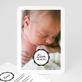 Babykarten für Jungen - Vintage Look - 0