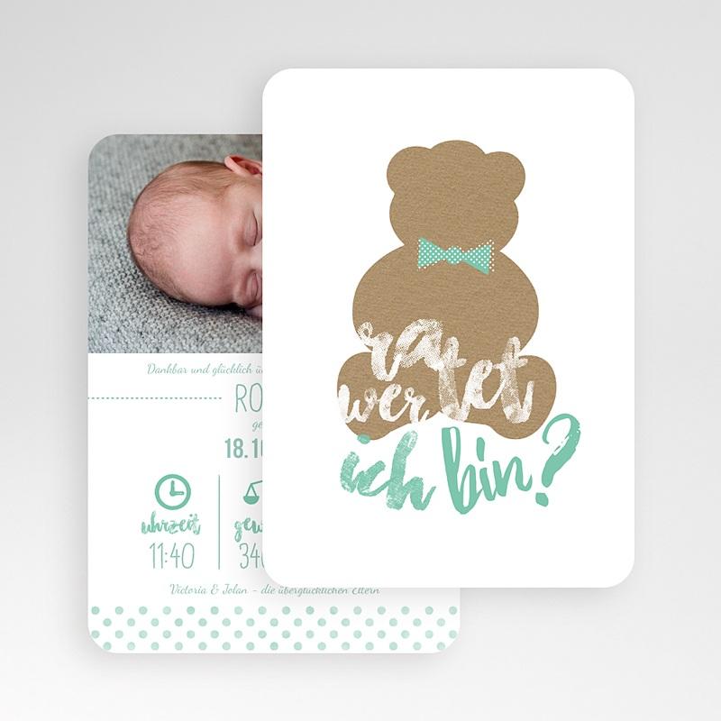 Geburtskarten mit Bär Kraftpapier & Teddy gratuit