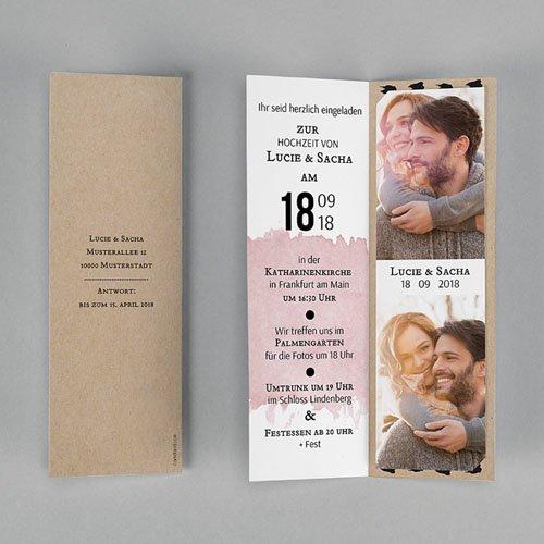 Hochzeitseinladungen modern - Art Wedding 53172 preview