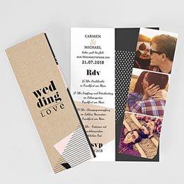 Hochzeitseinladungen modern - Wedding Geometrik - 0