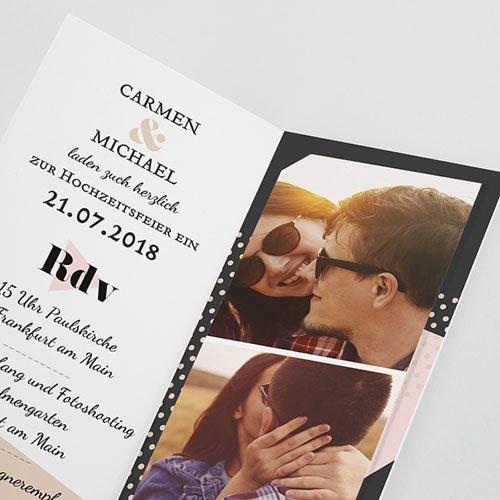 Einladungskarten Hochzeit  - Wedding Geometrik 53180 test