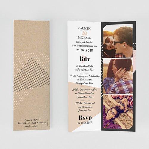 Einladungskarten Hochzeit  - Wedding Geometrik 53181 test