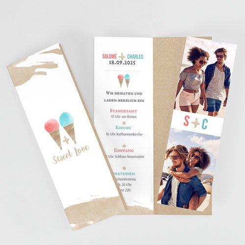 Hochzeitseinladungen modern - Sweet Love 53188