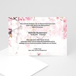 Karten Décès universel Floral
