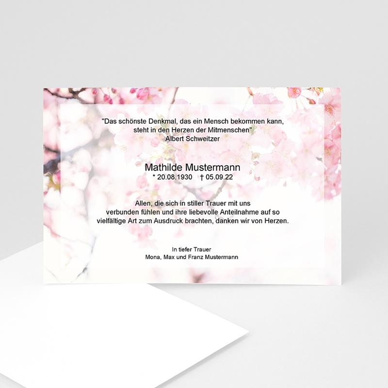 Weltlich Dankeskarten Trauer Floral