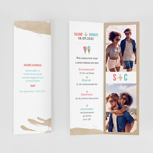 Hochzeitseinladungen modern - Sweet Love 53190 preview