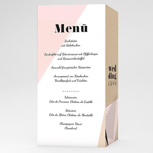 Menükarten Hochzeit - Wedding Geometrik 53196