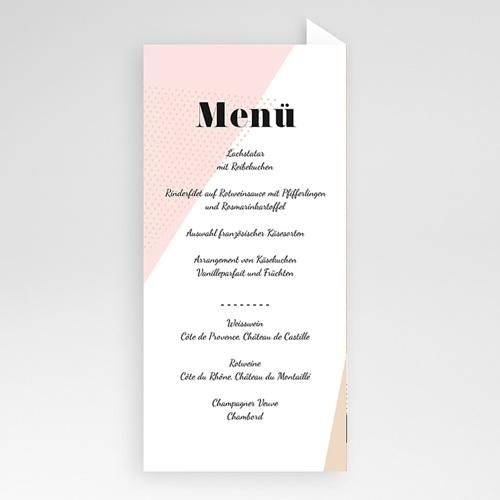 Menükarten Hochzeit - Wedding Geometrik 53197 test