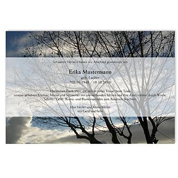 Trauer Danksagung weltlich - Ewiges Leben - 1