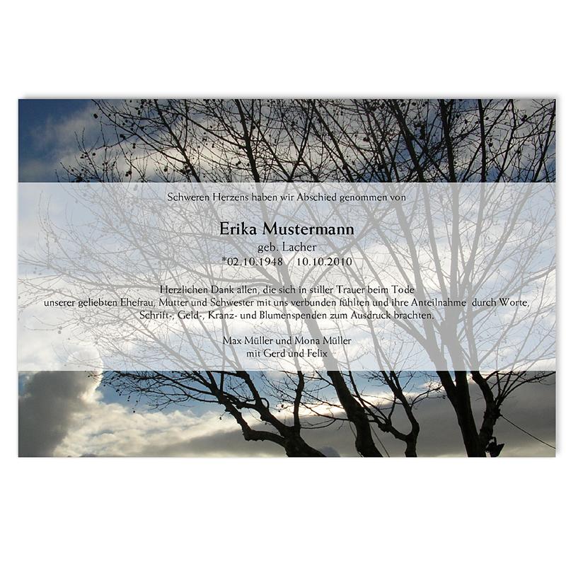 Trauer Danksagung weltlich - Ewiges Leben 5323 thumb