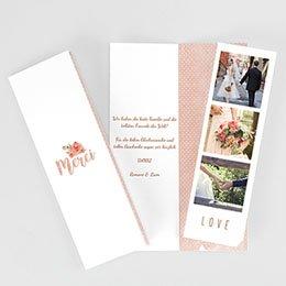 Danksagungskarten Rose Chic & Holz