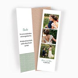Danksagungskarten Hochzeit Wiesenhochzeit