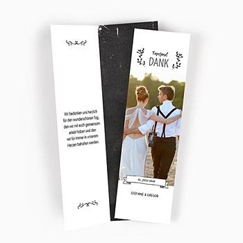 Alle Dankeskarten Hochzeit - Schiefer Danke - 0