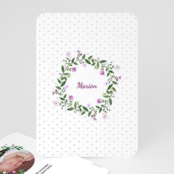 Geburtskarten für Mädchen - Blumenkranz - 0