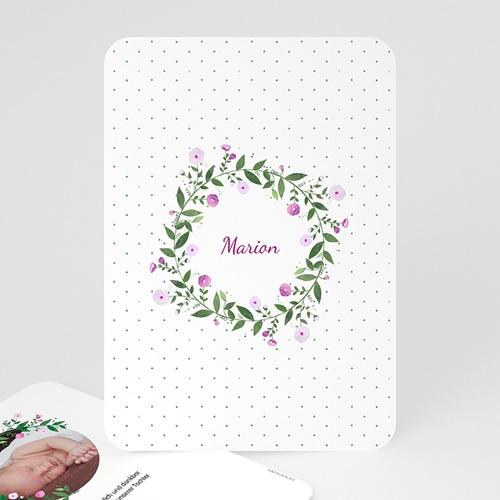 Geburtskarten für Mädchen Blumenkranz