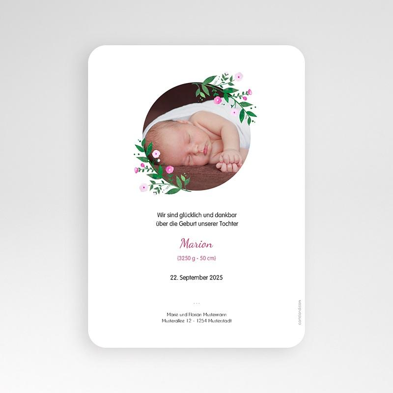 Geburtskarten für Mädchen Blumenkranz pas cher