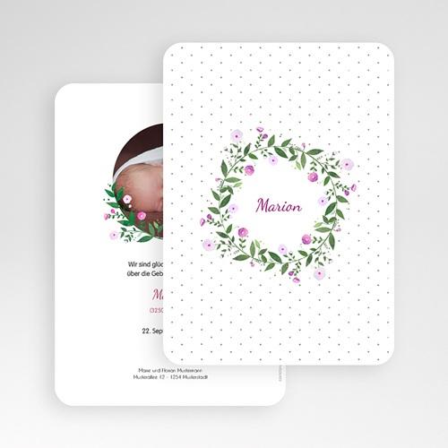Geburtskarten für Mädchen - Blumenkranz 53360 preview