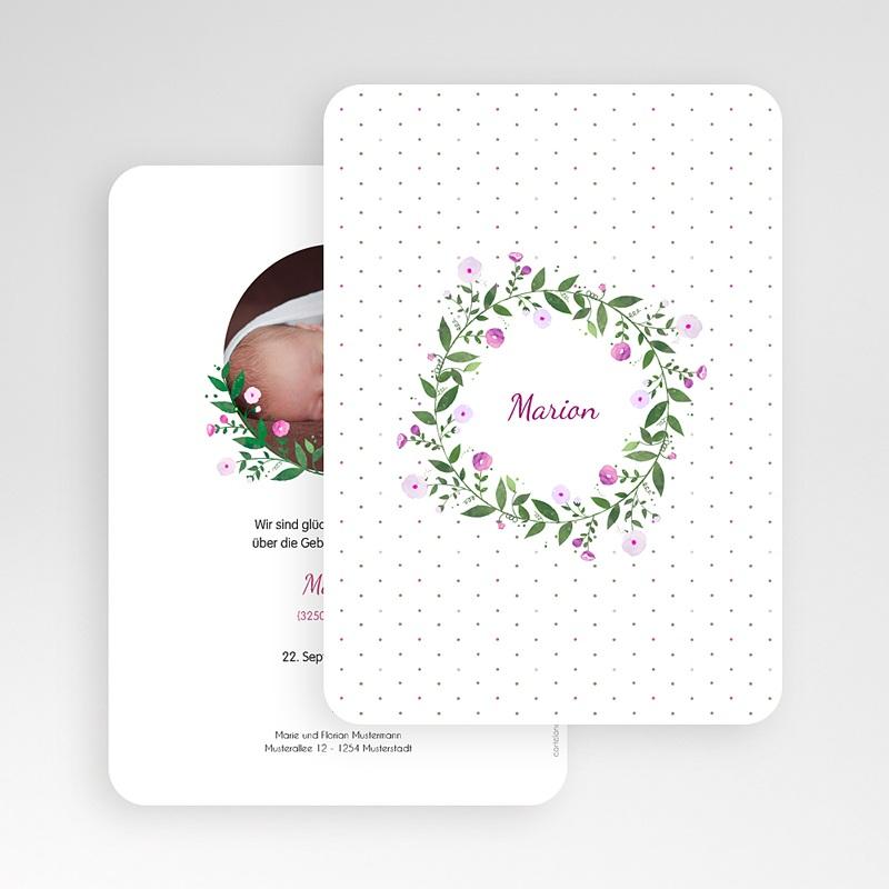 Geburtskarten für Mädchen Blumenkranz gratuit
