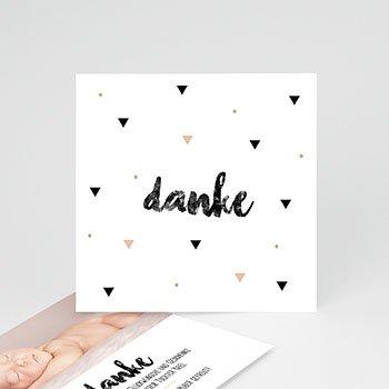 Dankeskarten Geburt Mädchen - Sweet Origami - 0