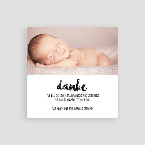 Dankeskarten Geburt Mädchen - Sweet Origami 53368 preview