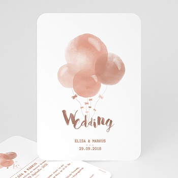 Einladungskarten Hochzeit  - Luftballons - 0