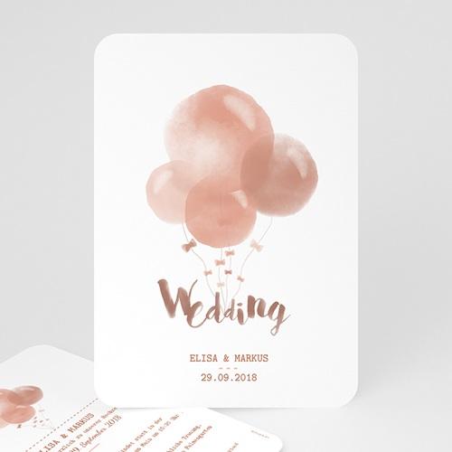 Hochzeitseinladungen modern - Luftballons 53375