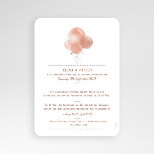 Hochzeitseinladungen modern - Luftballons 53376 preview