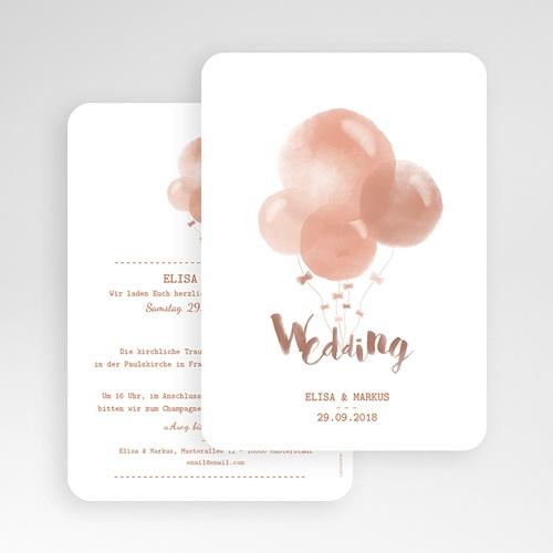 Hochzeitseinladungen modern - Luftballons 53377 preview