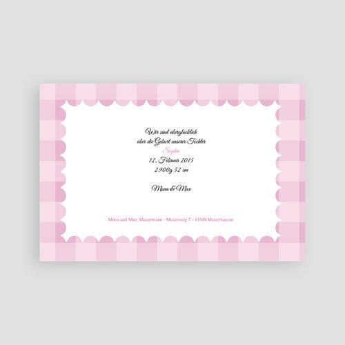 Geburtskarten für Mädchen - Karomuster 5340 preview