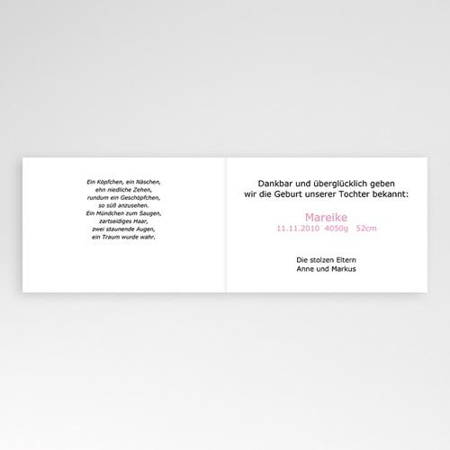 Geburtskarten für Mädchen - Kleine Fotoserie 5348 test