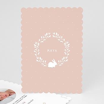 Geburtskarten für Mädchen - Vintage Hase - 0
