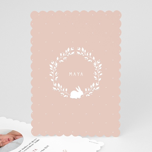 Geburtskarten für Mädchen - Hase Vintage  53494