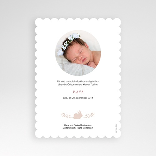 Geburtskarten für Mädchen - Hase Vintage  53495 preview