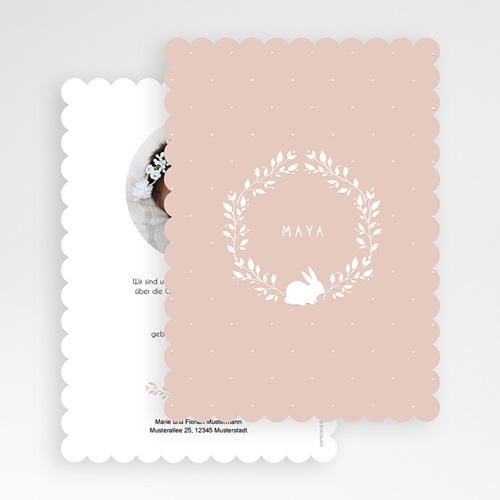 Geburtskarten für Mädchen - Hase Vintage  53496 preview
